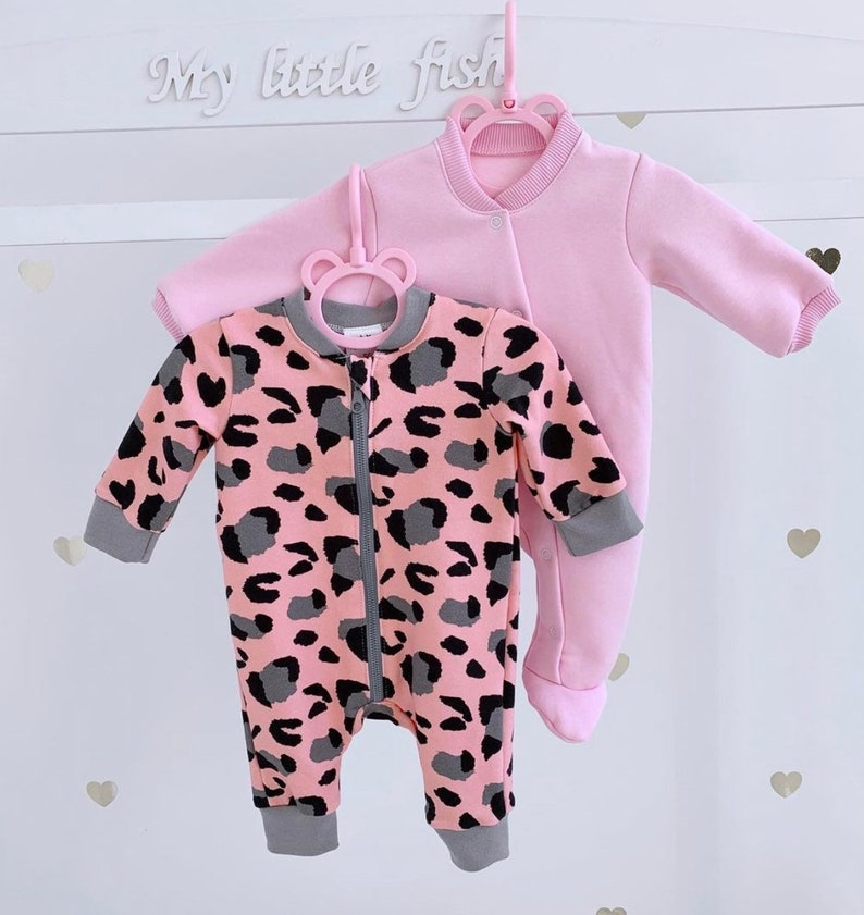 Baby girl romper Baby Patterned Long Sleeve Baby Romper Organic baby Romper Baby Sleeper Printed cotton Baby Overall