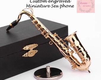 Musical  Saxophones  Miniature  DIY  Metal  Doll  Dollhouse  1:6  Instrument