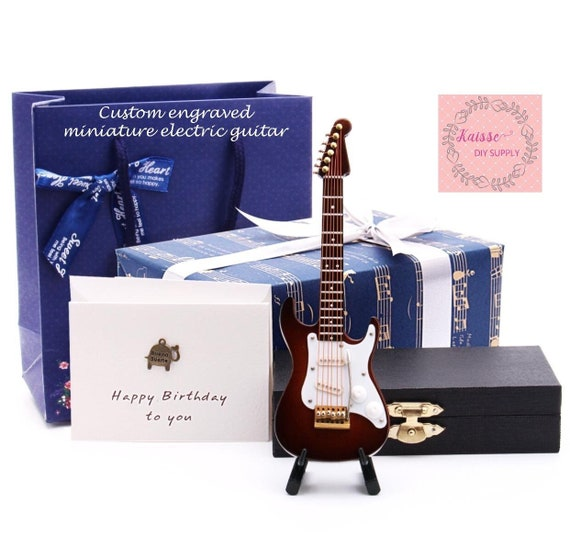Personalized collectable Miniature electric guitar band gift Dollhouse miniature electric guitar