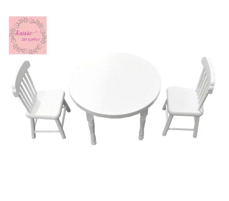 Dollhouse dining table dollhouse decoration dollhouse miniature 1:12 Dollhouse small dining table and chairs
