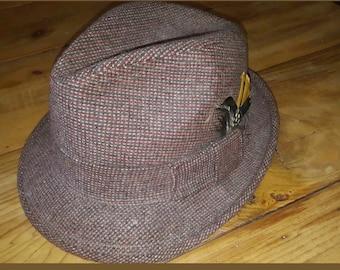3db239ee861e6 Mens brown tweed hat