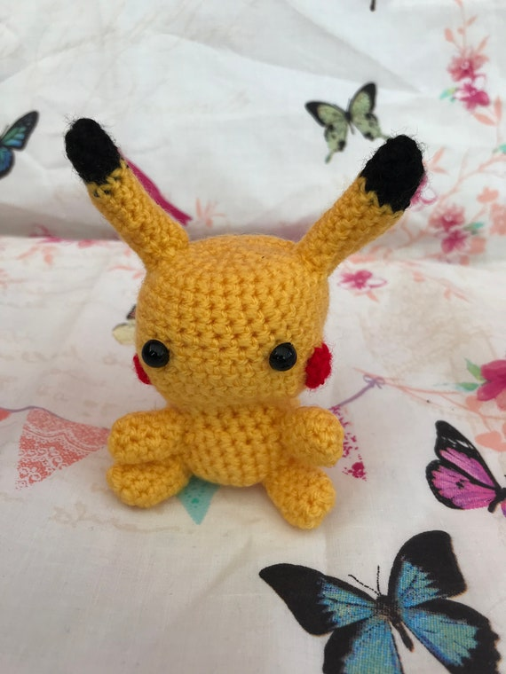 Crocheted pokemon bag pikachu bag pokemon drawstring bag | Etsy | 760x570