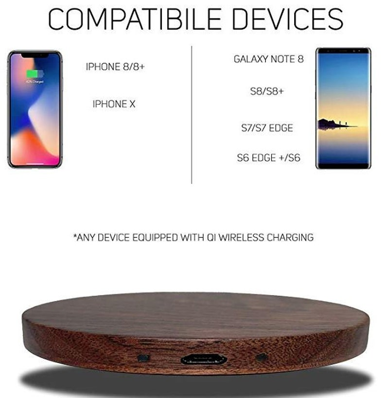 Qi Wireless Charger-Qi Wireless Charger-Walnut Wood wireless charger