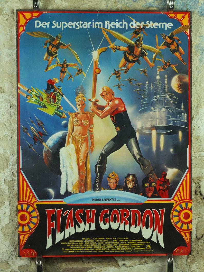 German A1 movie poster cinema film memorabilia Vintage Flash Gordon Poster 1981
