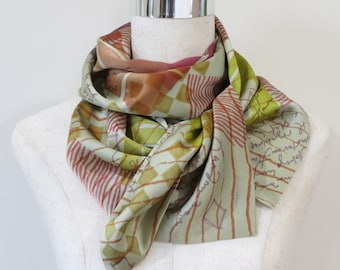 Silk Skinny Scarf, Hand-Dyed Charmeuse, Gift for Her, Woman's Scarf