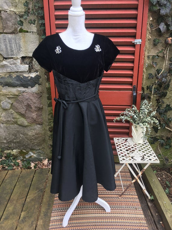 Vintage 1950s Designer Dress by Joan Doris Fashion