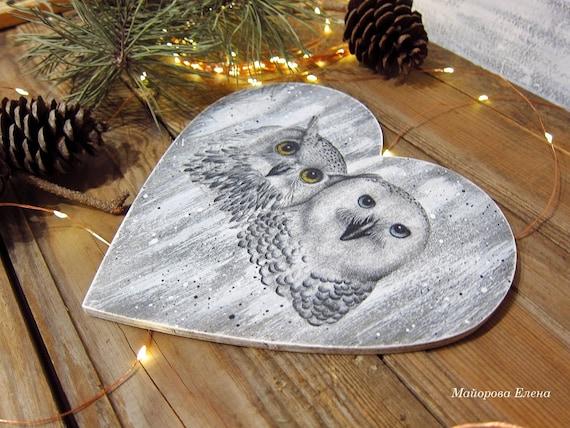 Snowy Owl Bird Decorative Ornament Trinket Keepsake Box White Metal 9 cm