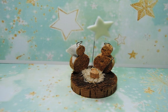 nativity scene, gift, collection Handmade Christmas Nativity CORK sacred family Jesus Mary Baby decor genuine Portugal