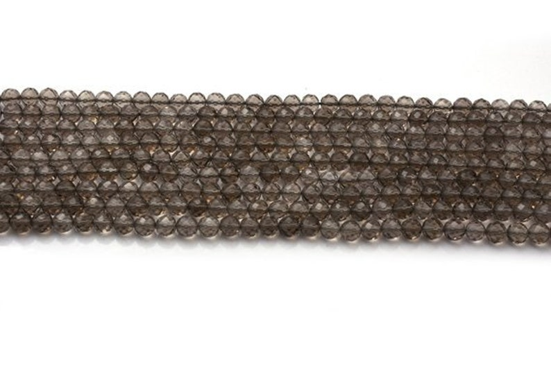 4-5 MM Beads Wholesale Beads 12 Inches Length AAA Smoky Quartz Round Beads