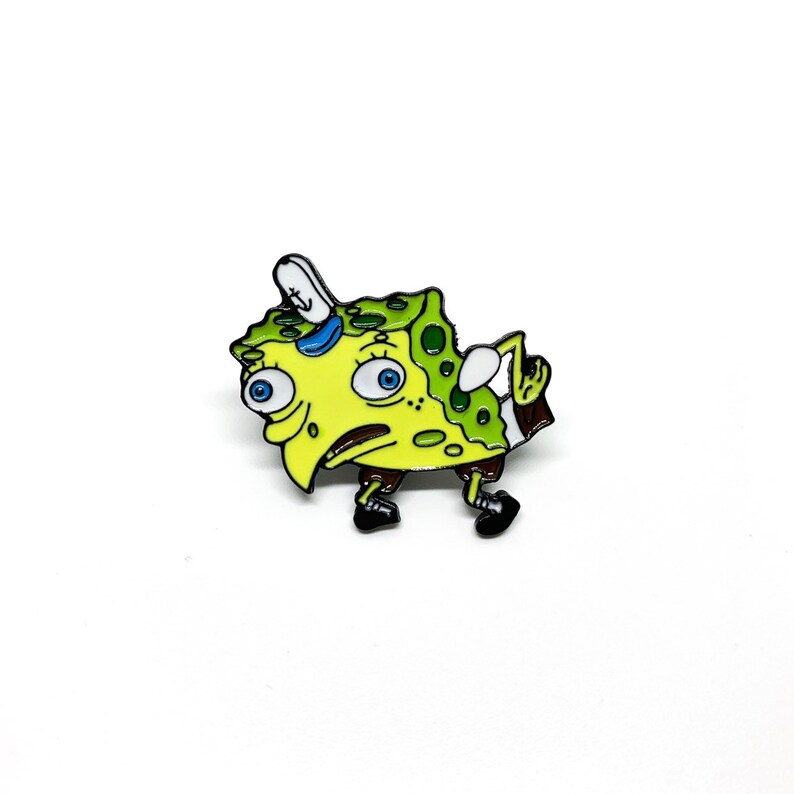 Enamel Pin Spongebob Squarepants Meme Enamel Pin 90 S Etsy
