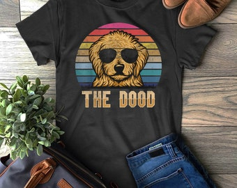 9abe5671 Retro Vintage Goldendoodle The Dood Gift Dad Mom Dog Lover T-Shirt
