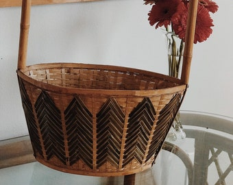 Vintage Chinese Bamboo Basket (Large) // Farmers Market Tote