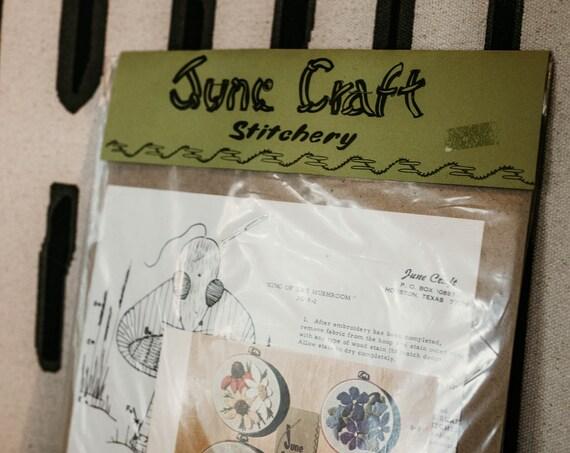 70s Mushroom Embroidery Hoop Kit