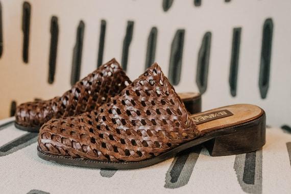 Vintage Brazilian Leather Mules - Size 7