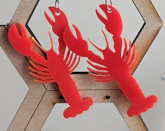 NAUTICAL SAILING BOAT Wood Beaded Stack Earrings SP KITSCH Cute NAVY STRIPE RED