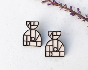 Iona Earrings in White