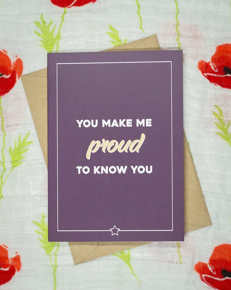 You make me proud to know you image 0