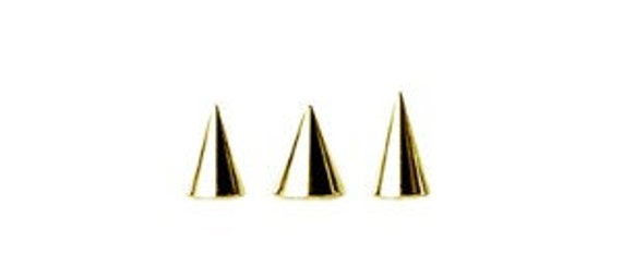 3mm or 4mm. nickel free Comes in 2.5mm Screws on Any 16G Jewelry 14k Solid Gold 16g Ball