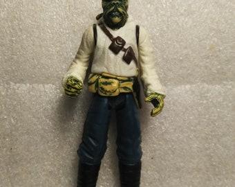 Star Wars 1999 Jabba The Hutt Skiff Guard Barada ~ Complete With Blaster