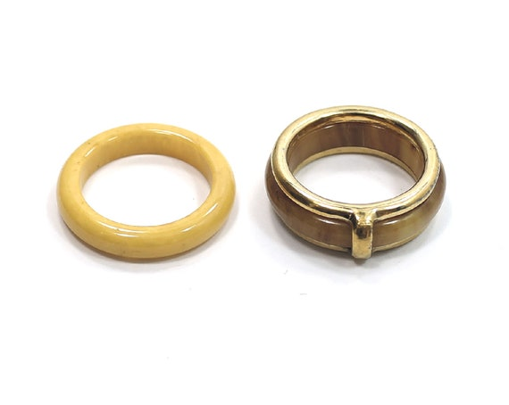 Beautiful Avon Rose  Gold Tone Fashion  Estate Ring Size 5-7 adjustable