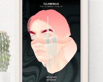 Illuminae Files Alternative Book Cover Illustration - Print