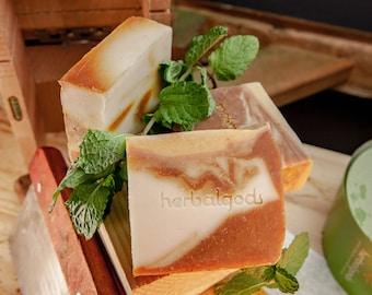 Turmeric Mint Soap (3 for 20) | Happy Face | Great Facial Soap | Best Seller | Artisanal Soap