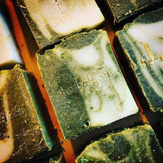 Moringa Mint Soap (1 Bar) / Happy Face / Great Facial Soap / Best Seller / Artisanal Soap