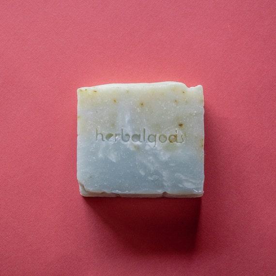 Rosemary Mint (1 Bar) | Handmade | Artisanal Soap | Happy Face