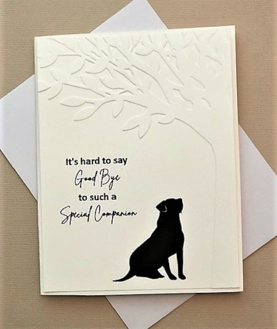 Loss Condolence Keepsake Gift High Quality Details about  /Dog Sympathy Card A5 BLANK INSIDE