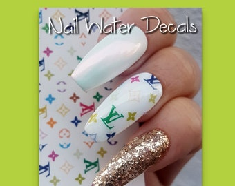 Flower nail decals | Etsy