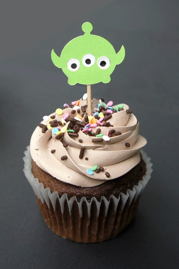 Toy Story Alien Cupcake Toppers Edible Image Disney Cake Toppers