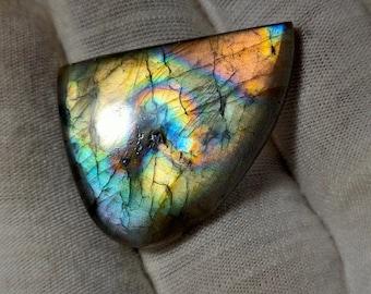 24,9*23 mm Multicolor Natural Very Rare cabochon 1,89 g. Labradorite Finnish Spectrolite My Video Insta FreakenFru Ylamaa Finland gem