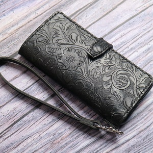 Tooled  Galaxy A12 A51 A42 A71 5G UW A51 AQuantum A21s A41 A70E A31 A72 A52 A01 core Embossed Leather Case Wallt Customized Hand Stitched