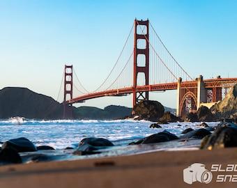 Golden Gate Bridge from the beach. Print Sizes Vary