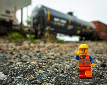 Working on the railroad. Print Size Varies