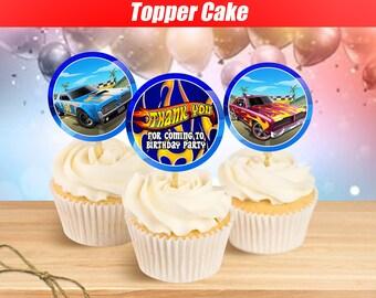 de813da7641 Hot Wheels Cupcake Toppers