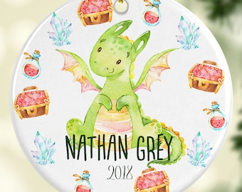 Baby Dragon Ornament Personalized for Christmas