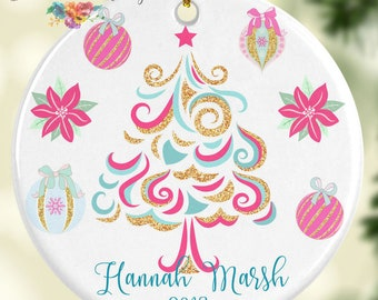 Christmas Tree Ornament Personalized