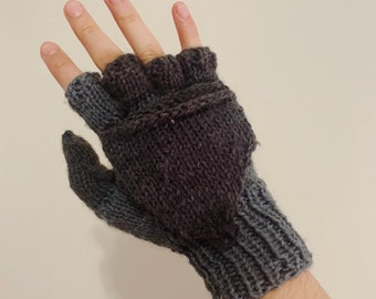 Manhattan Magic Mittens Knit Version   Knitting Pattern   Gloves, Convertible Mittens for Kids and Adults * instant digital download*
