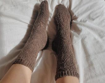 """Knitting Socks Pattern """"The Fire Escape Socks"""" DIGITAL DOWNLOAD PDF Easy Lace socks"""