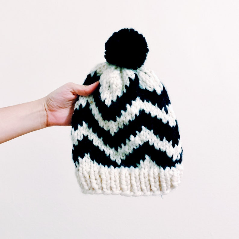 Chevron Street Hat Pattern  instant digital download pdf  image 0