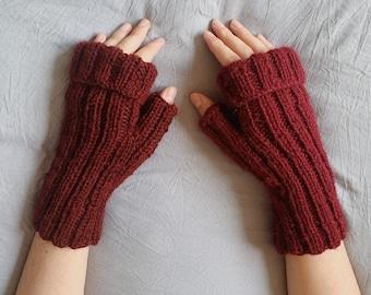 Midtown Fingerless Mittens - Easy Knitting Pattern PDF PATTERN DOWNLOAD
