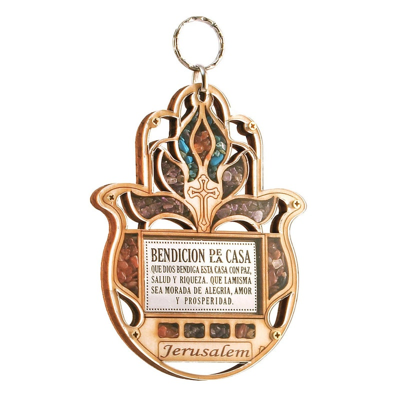 New Jerusalem Evil Eye Hand Of Mary Wood Wall Hanging Hamsa Home Blessing Gift