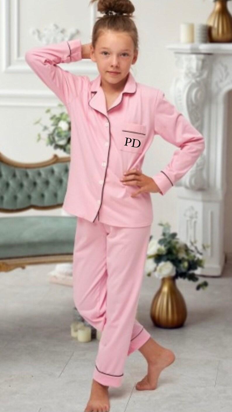 Personalised children\u2019s cotton initial pyjama long sleeve set