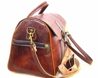 479046b5d3 Moroccan duffel bag travel leather bag handcrafted high leather quality Moroccan  bag from high quality cow leather Long durability