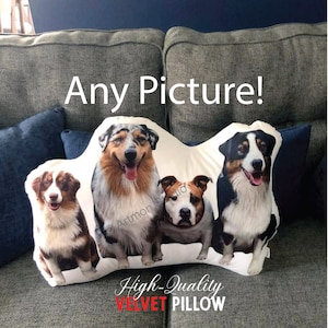 Comforting Gift  Moving Away Military Deployment  Custom Photo Pillow Graduation Gift Custom PetHuman Pillow /& your Text College Gift