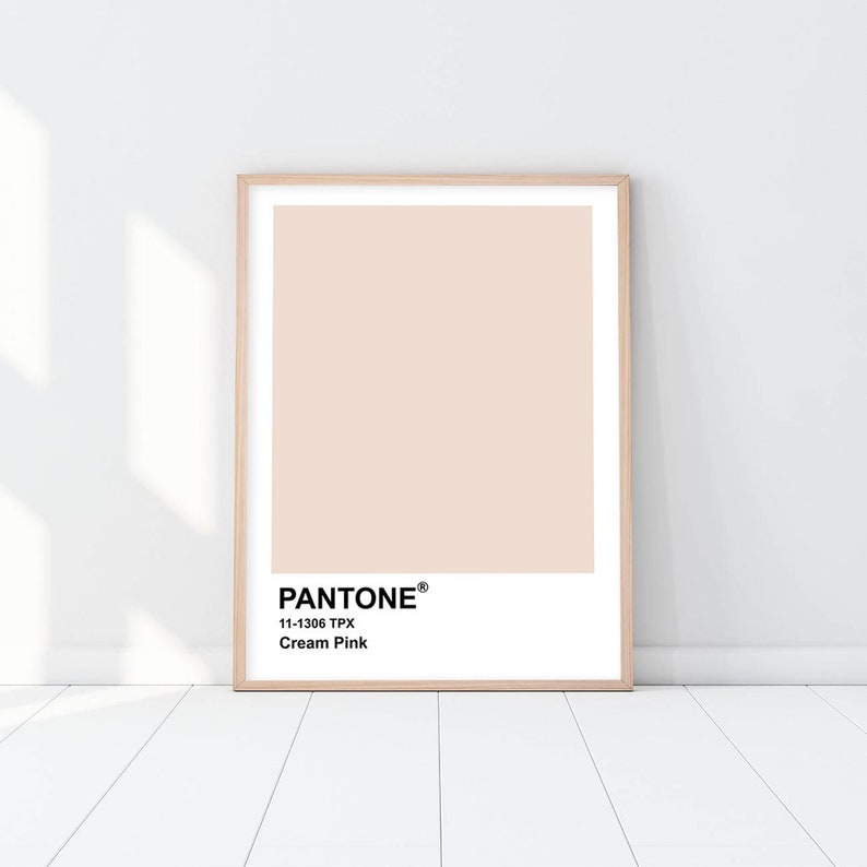Pantone Cream Pink Printable Wall Art, Pantone, Digital Print, Wall Art,  Pantone Poster,Pantone Print,Modern Wall Art,Minimalist Poster,#348