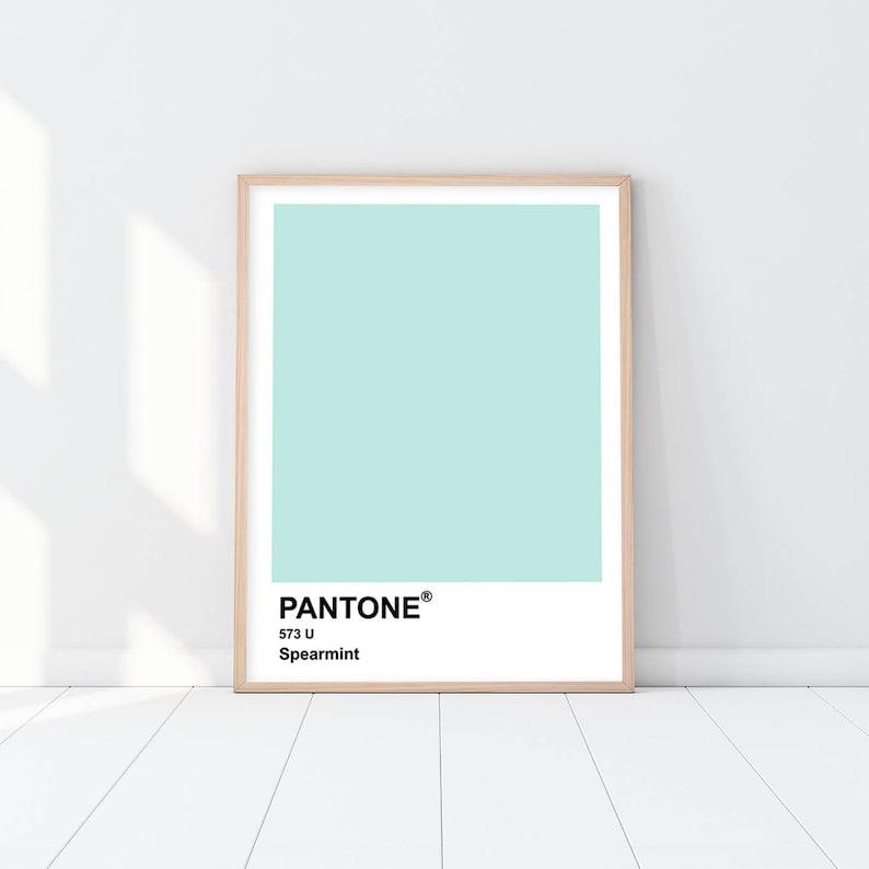 aa9d00dfd623 Mint Pantone Poster Minimalist Art Nursery Decor Wall Art | Etsy