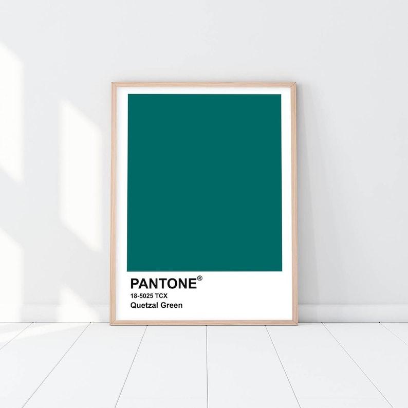 c0ce40c686e2 Pantone print 18-5025 TCX Quetzal Green Wall Art Canvas | Etsy