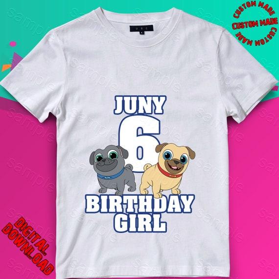 Digital File Iron On Transfer PNG Puppy Dog Pals Birthday Shirt Design